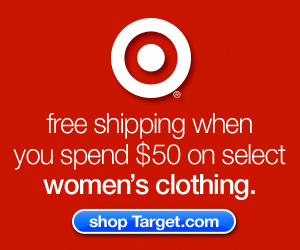 Spend $50 get free shipping on select womens clothing at Target.com