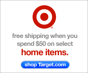 Spend $50 get free shipping on select home items at Target.com